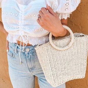 Handbags - The Whitney Woven Bag - Handwoven Rattan Purse